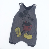 Rts ready to ship 12/18 month upcycled harem baby romper
