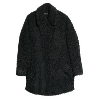 Buy Mango Faux Fur Coat, Black | John Lewis