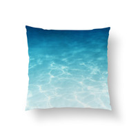 Blue Ombre Waters - Throw Pillow Cover