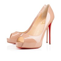Cl Christian Louboutin New Very Prive Nude Patent Leather 120mm Stiletto Heel Ss15 - Best Online Sale