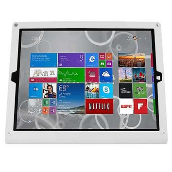 WindFall Stand + Kensington ClickSafe Cable Lock for Surface Pro 3/4, Grey White