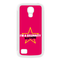 Celebrity Hater White Silicon Rubber Case for Galaxy S4 Mini by Chargrilled