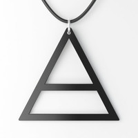 30 Seconds to Mars Triangle Pendant or Key Chain