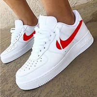 Inseva Nike Air Force 1 Classic Fashion New White Low Couple Running Leisure Shoes