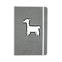 "Monika Strigel ""Llama One"" Grey Everything Notebook"