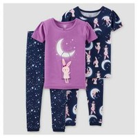 Toddler Girls' 4-Piece Snug Fit Cotton Pajamas Bunny - Just One You™ Made by Carter's® : Target