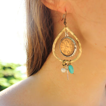 Lucky Penny Drop Earrings