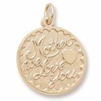 Mother We Love You Charm In Yellow Gold