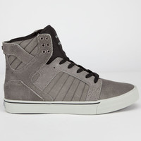 Supra Skytop Mens Shoes Charcoal/Black/Grey  In Sizes