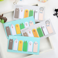 Kawaii thumb animal expression Sticky Memo Pad Notes N Times Stickers Memo Flags Bookmark Korean Stationery office supplies