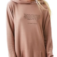 Wildfox Couture Champagne Stars Knight Hood Pullover Chocolate Martini
