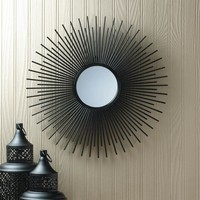 Sun Rays Iron Wall Mirror