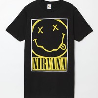 PacSun Nirvana T-Shirt - Mens Tee - Black