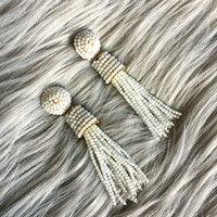 Tassel Take Over Earrings- White