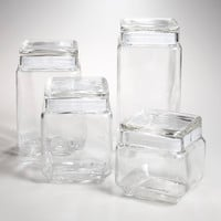 Stackable Square Glass Jars with Lids - World Market