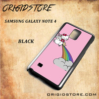 HELLO KITTY UNICORN Snap on 2D Black and White Or 3D Suitable With Image For Samsung Galaxy Note 4 Case