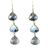 Opal Grey Crystal Earrings