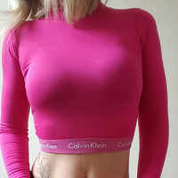 Reworked calvin klein crop top
