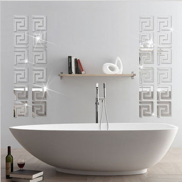 Acrylic Labyrinth Mirror Puzzle Wall Decal Stickers