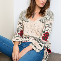 On Another Level Bohemian Sweater