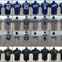 Men Los Angeles Dodgers 22 Clayton Kershaw 42 robinson 23 Adrian Gonzalez 5 Corey Seager baseball jerseys Stitched