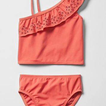 Eyelet Tankini Swim Two Piece
