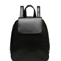 Minimalist Faux Leather Backpack