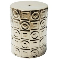 Circles & Squares Gold Side Table