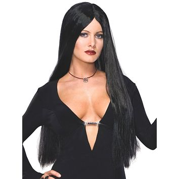 Rubies The Addams Family Morticia Costume Wig