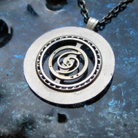"""Clockwork Pendant """"Hypnotic"""" Recycled Mechanical Watch Gears and Intricate Sculpture Wearable Art Not Quite Steampunk Assembly Necklace"""