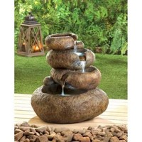 Natural Balance Garden Water Fountain Outdoor Decor