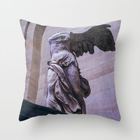 Winged Victory Of Samothrace Throw Pillow by Pati Designs