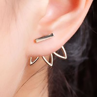 Lotus Earrings Metal Bar