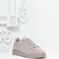 Light Grey Suedette Classic Sneakers