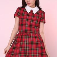 Glitters For Dinner — MADE TO ORDER - Clueless Tartan Set in Red
