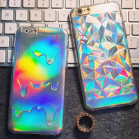 Cool laser TPU mobile phone case for iPhone 7 7 plus iphone 6 6s 6 plus 6s plus + Nice gift box 072301