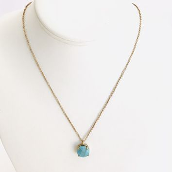 Down To Earth Turquoise Necklace