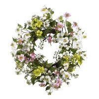 Dogwood Wreath Home Decor 20 Inch
