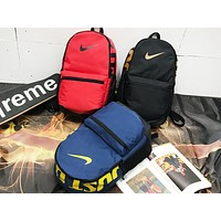 NIKE fashion hot seller printed color patchwork men's and women's casual shopping backpacks