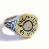 Winchester Bullet Ring 45 Auto Gorgeous mixed metals