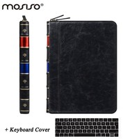 MOSISO for Macbook Air 13 Luxury PU Leather Sleeve Case for Mac book Pro13 Retina 13.3 Classic Zipper Laptop Pouch Case Cover