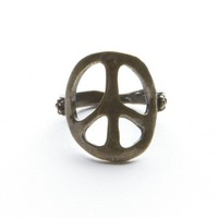 Gold Peace Ring