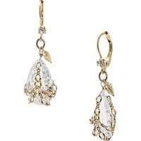 Betsey Johnson Briolette Crystal Drop Earrings