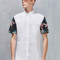 Barney Cools Floral Sleeve Button-Down Shirt
