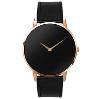 The Poseidon- Mens watch 45mm Black Band Rose Gold Case