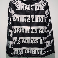 adidas Originals Fashion Hooded Zipper Jacket Windbreaker Coat Sweatshirt