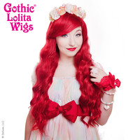 Gothic Lolita Wigs®  Classic Wavy Lolita™ Collection - Crimson Red -00038