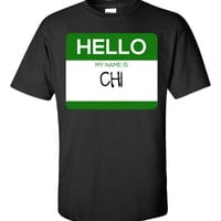 Hello My Name Is CHI v1-Unisex Tshirt