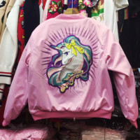 ''MOSCHINO'' Embroidery Padded jacket Dust coat