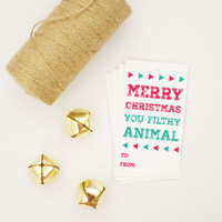 Merry Christmas Home Alone Gift Tag (Set of 4)